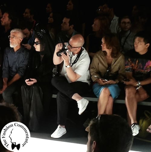 AltaRoma 2014 - Diane Pernet, her photographer and Bryanboy in the front row of WhoIsOnNext?2014 fashion show