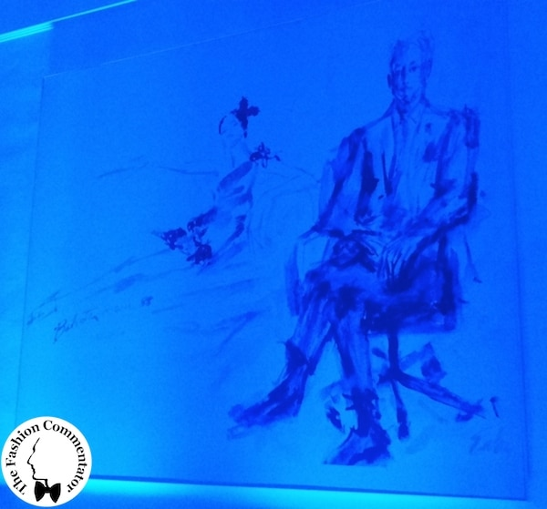 ALTAROMA 2014 - BE BLUE BE BALESTRA - Portrait of Renato Balestra in the entrance hall of the atelier