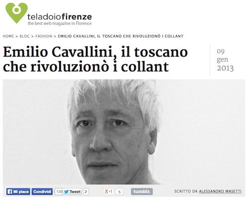Interview to Emilio Cavallini by Alessandro Masetti