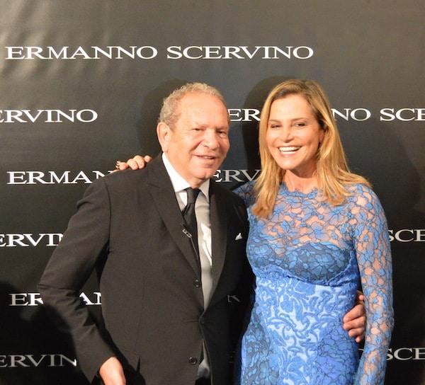 Ermanno Scervino e Simona Ventura nel backstage