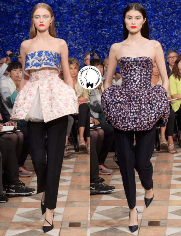 Dior and I - Raf Simons first couture collection - Couture Fall 2012 - long dresses become tops on pants