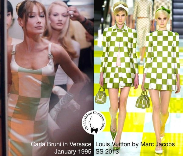 FashionLoop - Carla Bruni in Versace, January 1995 - Louis Vuitton by Marc Jacobs SS 2013