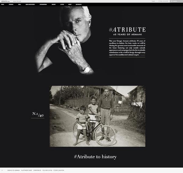 #Atribute, 40 years of Armani