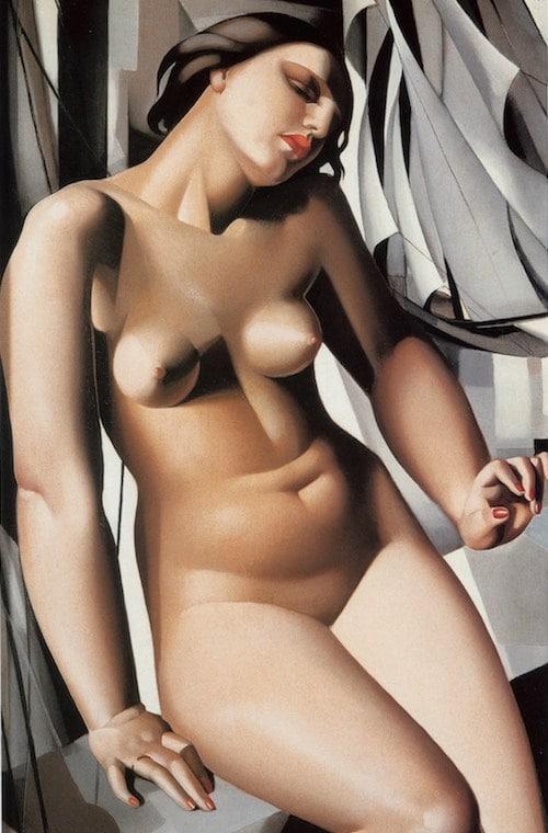Tamara de Lempicka - Nue aux voiliers