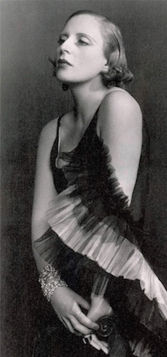 Tamara de Lempicka wearing Marcel Rochas dress - Madame D'Ora - 1931:1933
