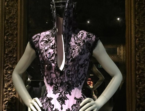 Savage Beauty London - room 3 - dress detail - credits Vogue UK