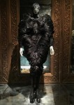 Savage Beauty London - room 3 - feather dress - credits Vogue UK