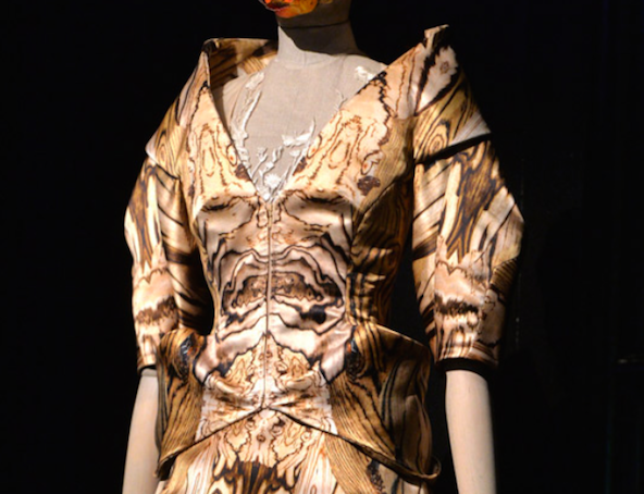 Savage Beauty London - room 6 - dress detail - credits Fashion Telegraph UK