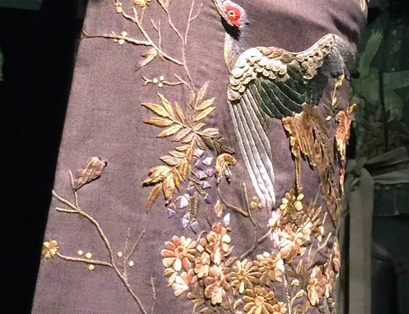 Savage Beauty London - room 7 - detail embroidery - credits Vogue UK