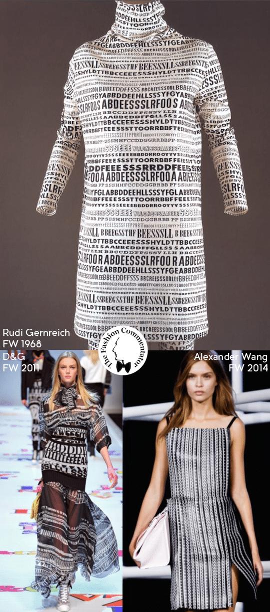 FashionLoop 3 - Lettering in Fashion - Rudi Gernreich FW1968, DeG FW2011, Alexander Wang FW2014