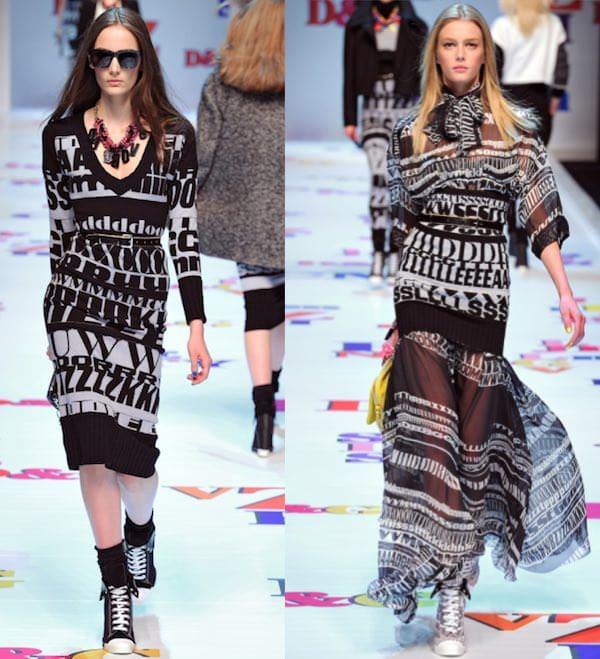 Lettering in fashion - DeG - fw2011