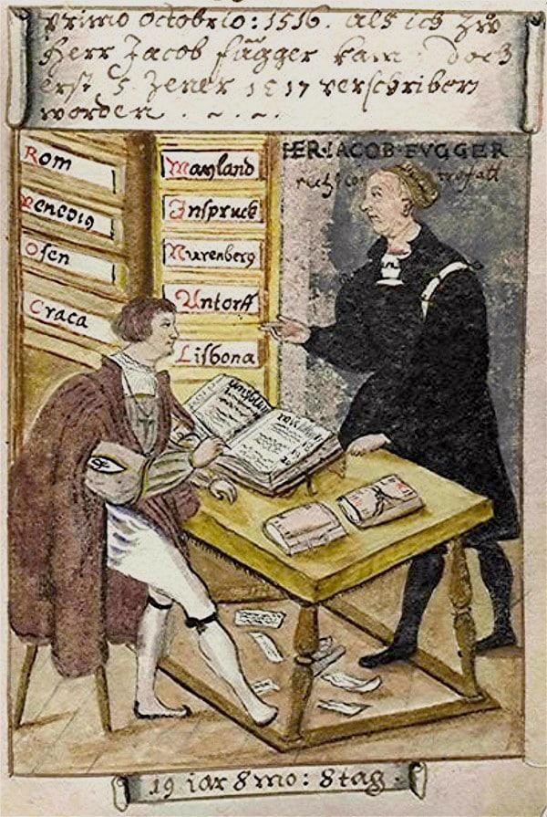 Matthäus Schwarz - Aged 19 years, 8 months, 8 days - On 1st October 1516, Working for Jacob Fugger - Bibliothèque Nationale, Paris
