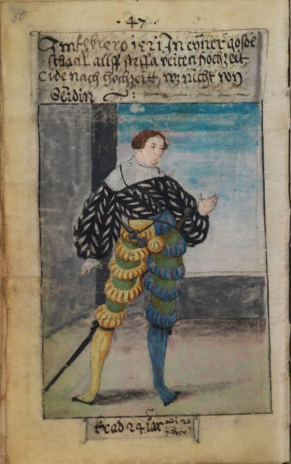 Matthäus Schwarz Aged 24 - In February 1521, in a gathering at Steffan Veiten's wedding - or rather the after-wedding - it was not from silk. - © The Herzog Anton Ulrich Museum, Braunschweig