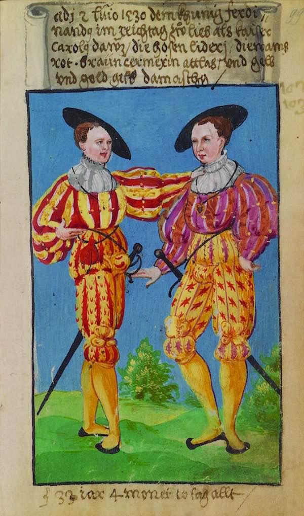 Matthäus Schwarz Aged 33 years, 4 months, 10 days - On 1530, to please King Ferdinand during the Imperial Diet, when Emperor Carolus was here - © The Herzog Anton Ulrich Museum, Braunschweig
