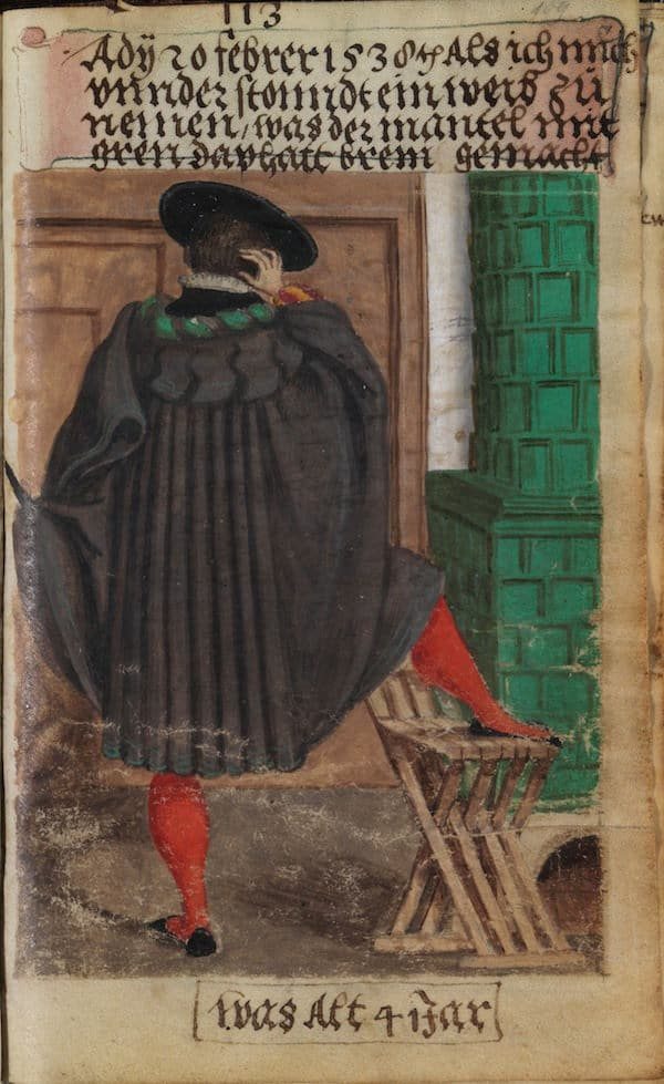 Matthäus Schwarz Aged 41 years - On 20th February 1538 When I decided to take a wife, the gown was made with green trims of half silk. - © The Herzog Anton Ulrich Museum, Braunschweig
