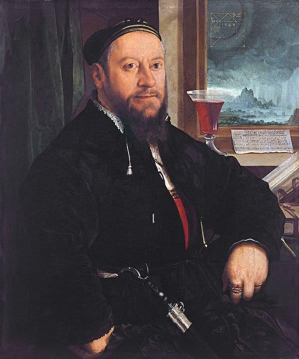 Portrait of Matthäus Schwarz by Christoph Amberger, 1542, Thyssen-Bornemisza Museum.