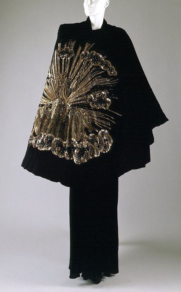 Elsa Schiaparelli, Apollo of Versailles cape, from the Zodiac Collection, AutumnWinter 1938-1939