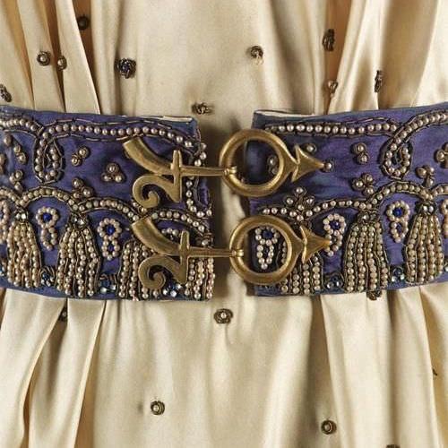 Elsa Schiaparelli - belt and dress from the Zodiac collection, Fall Winter 1938