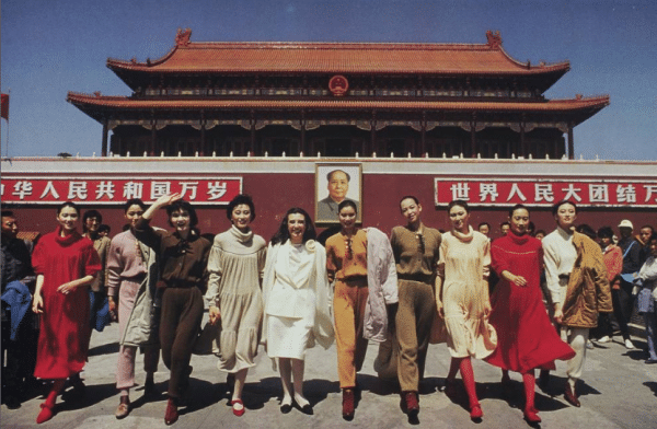 Laura Biagiotti in China - Ph: Archivio Corriere della sera