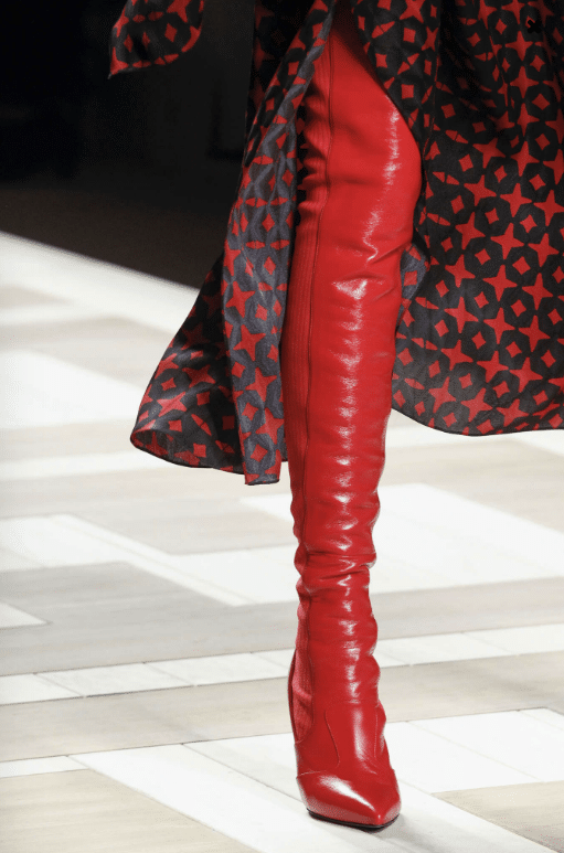 Fendi red boots - FW 2017