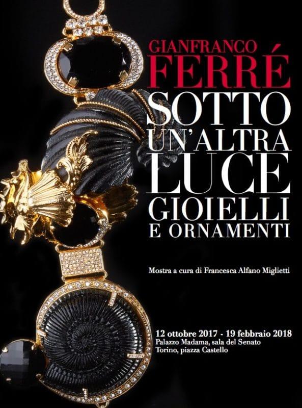 Locandina della Mostra su Gianfranco Ferré a Torino